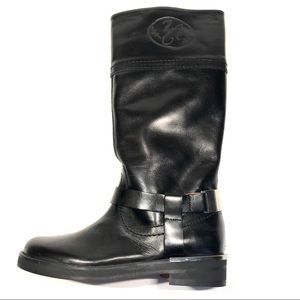 Zara Kids Girl's Black Leather Riding Boots